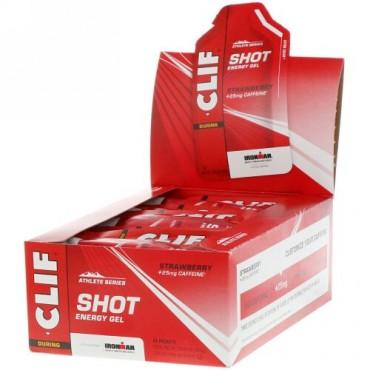 Clif Bar, ショットエナジージェル、ストロベリー+ 25 mgカフェイン、24包、各1.2オンス(34 g)