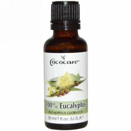 Cococare, 100% ユーカリオイル, 1 液量オンス (30 ml)