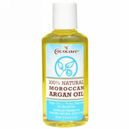 Cococare, 100%天然モロッカンアルガンオイル、60 ml(2 fl oz)