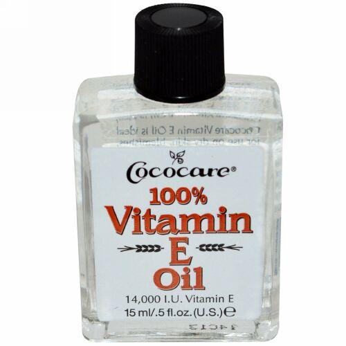 Cococare, 100% ビタミンE オイル, .5 fl oz (15 ml)