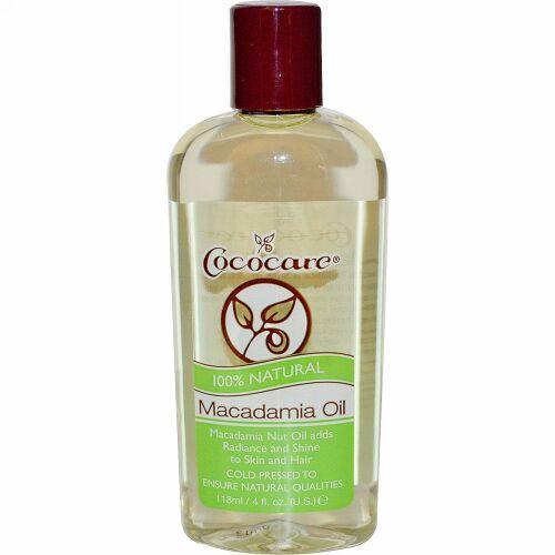 Cococare, マカダミアオイル, 4液量オンス (118 ml)