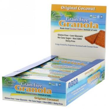 Coconut Secret, Crunchy Grain-Free Granola Bar , Original Coconut, 12 Bars, 1.2 oz (34 g) Each (Discontinued Item)