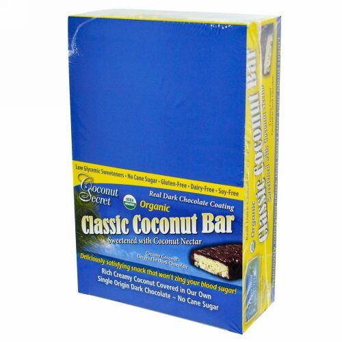 Coconut Secret, オーガニック, クラシック・ココナッツバー, 12 バー, 各1.75 オンス (50 g) (Discontinued Item)