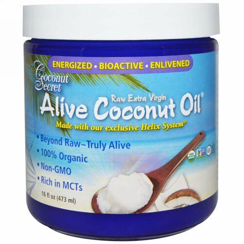 Coconut Secret, Organic Alive Coconut Oil, Raw Extra Virgin, 16 fl oz (473 ml)
