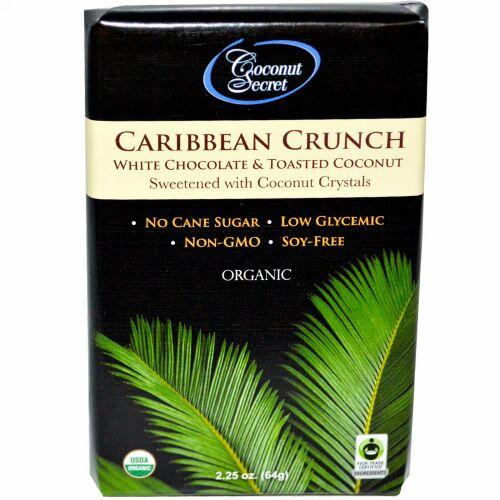 Coconut Secret, オーガニックカリビアンクランチ, ホワイトチョコレート & トーストココナッツ, 2.25オンス (64 g) (Discontinued Item)