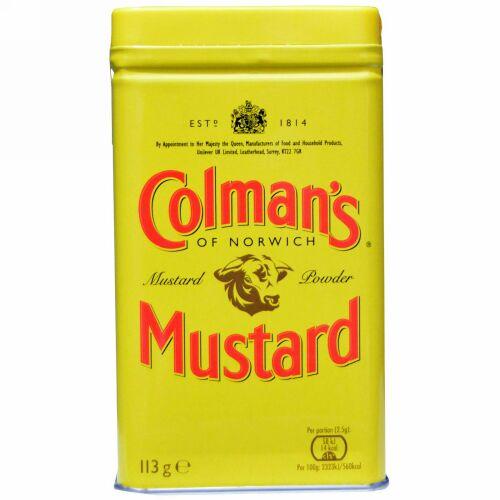 Colman's, ダブルスーパーファイン(超微粉)マスタードパウダー、 4 オンス (113 g) (Discontinued Item)