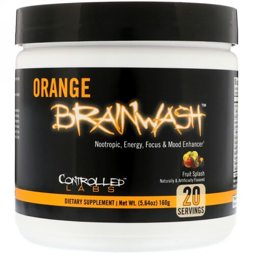 Controlled Labs, Orange Brainwash,  Fruit Splash, 5.64 oz (160 g) (Discontinued Item)