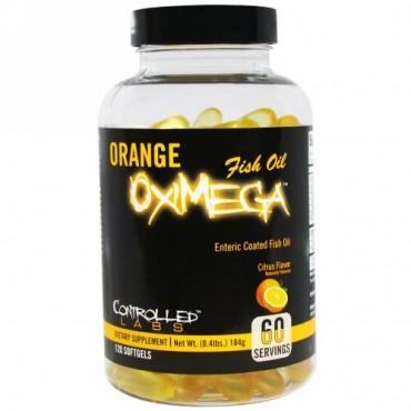 Controlled Labs, オレンジ オキシメガ フィッシュオイル, シトラス味, ソフトジェル 120粒