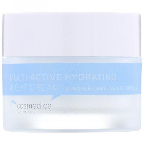 Cosmedica Skincare, マルチアクティブ 保湿ナイトクリーム、アドバンスエイジングケアフォーミュラ、1.76オンス (50 g)