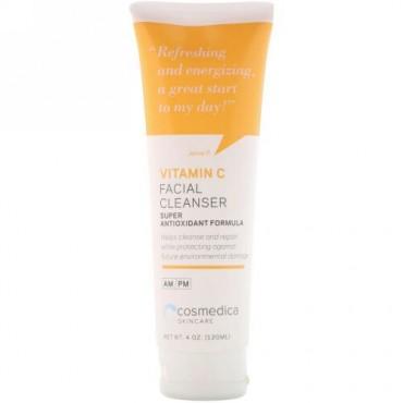 Cosmedica Skincare, ビタミンC フェイシャルクレンザー、超抗酸化処方、4オンス (120 ml)