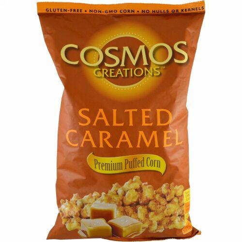 Cosmos Creations, プレミアム・パフコーン、塩キャラメル、14 oz (396.9 g) (Discontinued Item)
