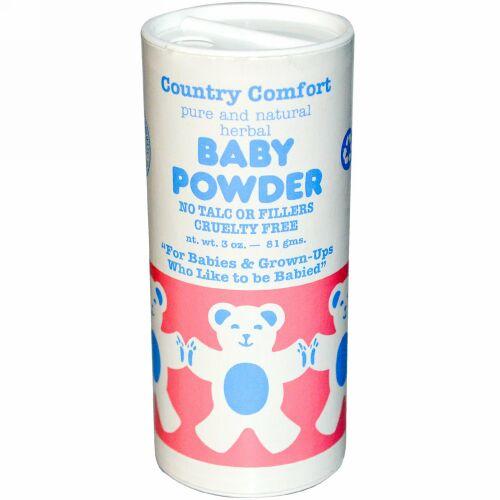 Country Comfort, ベビーパウダー、3オンス (81 g)