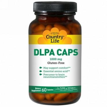Country Life, DLPAカプセル, 1,000 mg, 60カプセル