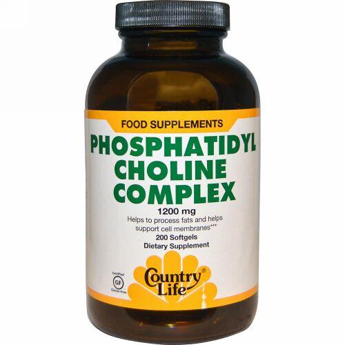 Country Life, ホスファチジル・コリン・コンプレックス、1200 mg、200 ソフトジェル