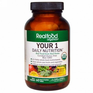 Country Life, Realfood Organics, Your Daily Nutrition, 60 Easy-t-Swallow Tablets (Discontinued Item)