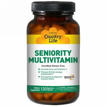 Country Life, シニアリティマルチビタミン、ベジキャップ使用 120 錠
