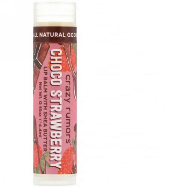 Crazy Rumors, Lip Balm with Shea Butter, Choco Strawberry, 0.15 oz (4.4 ml) (Discontinued Item)