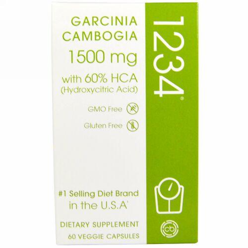 Creative Bioscience, Garcinia Cambogia 1234, 1,500 mg, 60 Veggie Capsules (Discontinued Item)