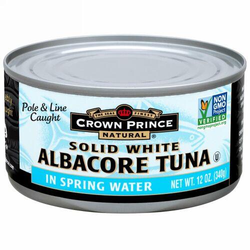 Crown Prince Natural, ホワイトアルバコアツナ固形、 天然水、 12 oz (340 g) (Discontinued Item)