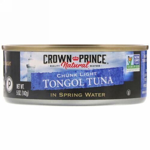 Crown Prince Natural, チャンクライト トンゴルツナ(Chunk Light Tongol Tuna), 湧き水で処理, 5オンス(142 g)