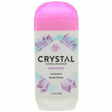 Crystal Body Deodorant, ナチュラルデオドラント、無香、2.5オンス (70 g)