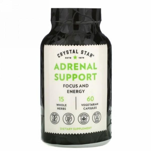 Crystal Star, Adrenal Support, 60 Vegetarian Capsules