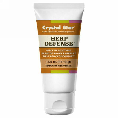 Crystal Star, ヘルペス(疱疹)防御ジェル, 1.5液量オンス(44 ml) (Discontinued Item)