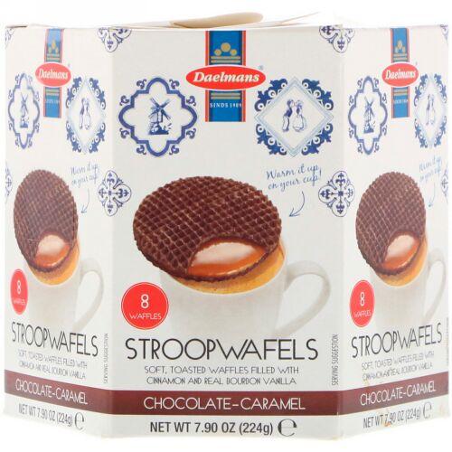 Daelmans, Stroopwafels, Large Hex Box, Chocolate-Caramel, 8 Waffles, 8.11 oz (230 g) (Discontinued Item)