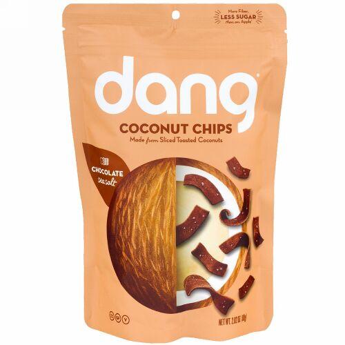 Dang, ココナッツチップス、チョコレート・シーソルト、2.82 oz (80 g)
