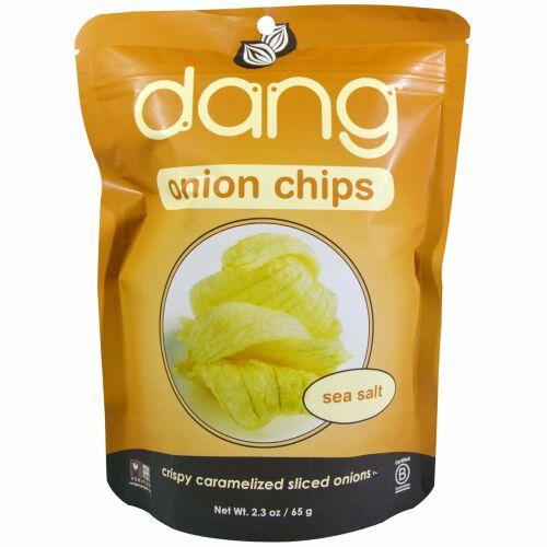 Dang, オニオンチップス、 シーソルト、 2.3 oz (65 g) (Discontinued Item)
