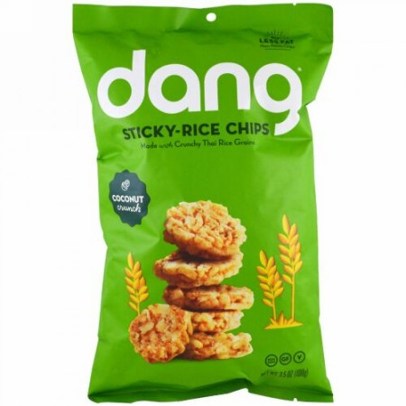 Dang, スティッキーライスチップ、ココナッツ、3.5 oz (100 g) (Discontinued Item)