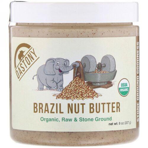 Dastony, 100%オーガニックブラジルナッツバター、8オンス(227 g) (Discontinued Item)