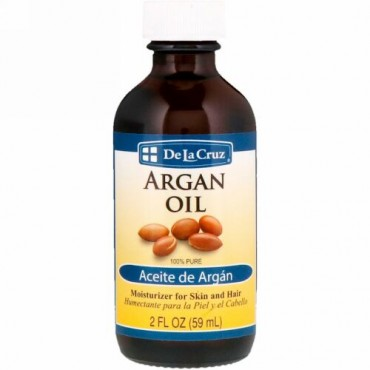 De La Cruz, アルガンオイル、純度100%、2液量オンス (59 ml)
