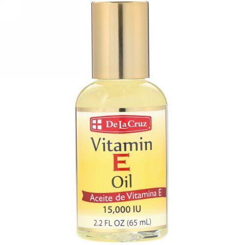 De La Cruz, ビタミンEオイル、15,000 IU、2.2オンス(65 ml)