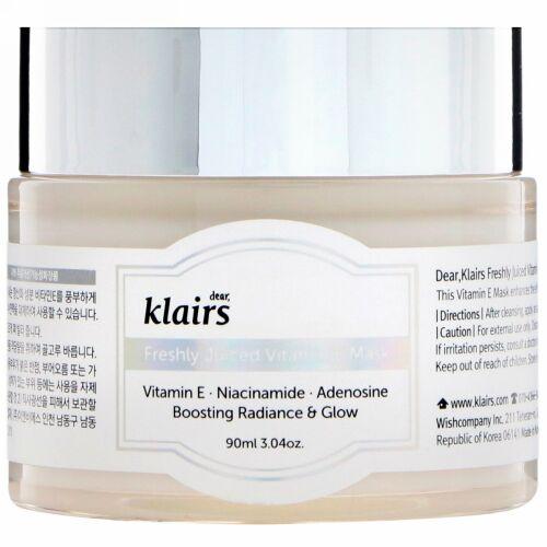 Dear, Klairs, フレッシュリージュースド・ビタミンEマスク、3.4 oz (90 ml)