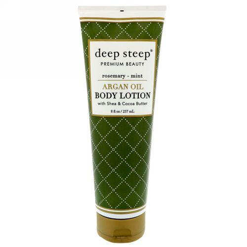 Deep Steep, Argan Oil Body Lotion, Rosemary - Mint, 8 fl oz (237 ml) (Discontinued Item)