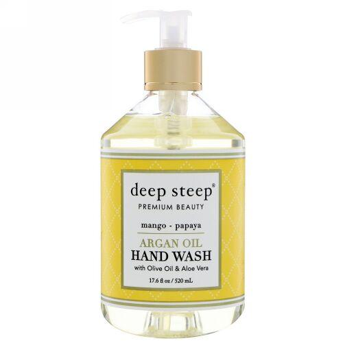 Deep Steep, Argan Oil Hand Wash, Mango - Papaya, 17.6 fl oz (520 ml) (Discontinued Item)