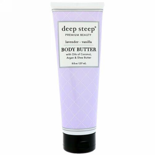Deep Steep, Body Butter, Lavender Vanilla, 8 fl oz (237 ml) (Discontinued Item)