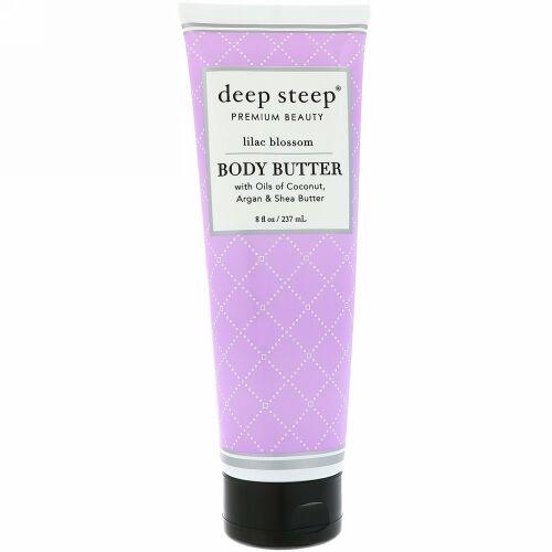 Deep Steep, Body Butter, Lilac Blossom, 8 fl oz (237 ml) (Discontinued Item)