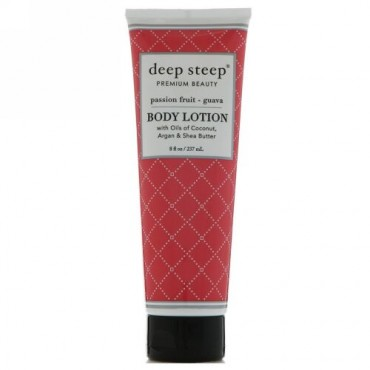 Deep Steep, Body Lotion, Passion Fruit - Guava, 8 fl oz (237 ml) (Discontinued Item)
