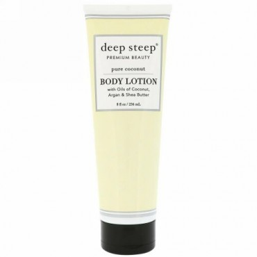 Deep Steep, Body Lotion, Pure Coconut, 8 fl oz (236 ml) (Discontinued Item)