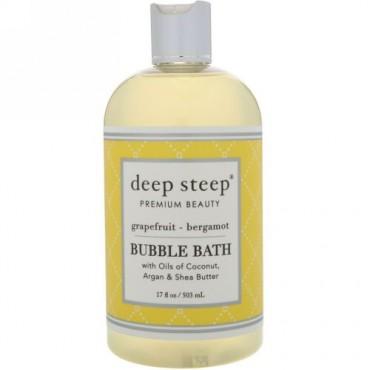 Deep Steep, バブルバス、グレープフルーツ - ベルガモット、17 fl oz (503 ml)