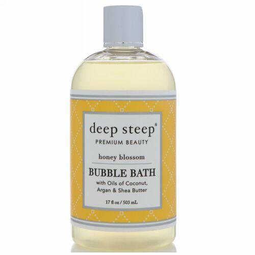 Deep Steep, Bubble Bath, Honey Blossom, 17 fl oz (503 ml) (Discontinued Item)