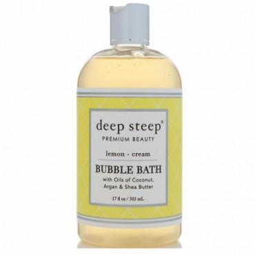 Deep Steep, Bubble Bath, Lemon Cream, 17 fl oz (503 ml) (Discontinued Item)