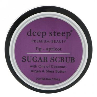 Deep Steep, シュガースクラブ、イチジク - アプリコット、8オンス (226 g) (Discontinued Item)