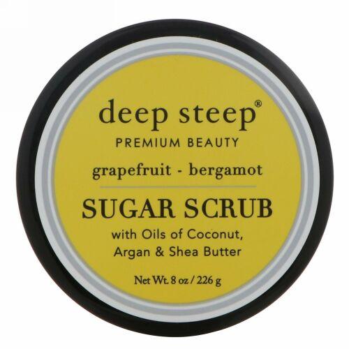 Deep Steep, シュガースクラブ、 グレープフルーツ - ベルガモット、 8オンス (226 g)