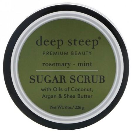 Deep Steep, Sugar Scrub, Rosemary - Mint, 8 oz (226 g) (Discontinued Item)