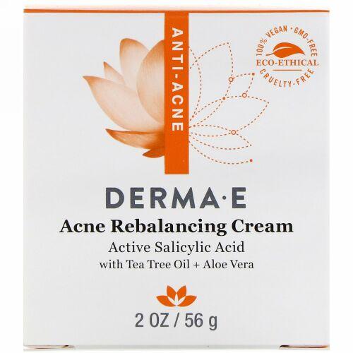 Derma E, Acne Rebalancing Cream, Active Salicylic Acid , 2 oz (56 g)