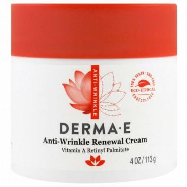 Derma E, アンチリンクルいニューアルクリーム、, 4 oz (113 g)