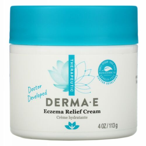 Derma E, 湿疹用クリーム、113g(4オンス)